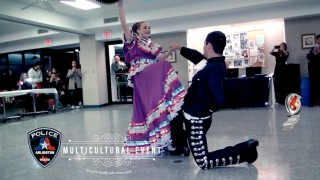 Arlington Police Department  Officer dancing at Multicultural Event